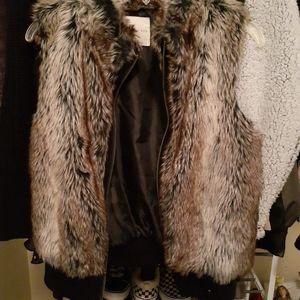Copper Key Jackets & Coats - Faux fur vest